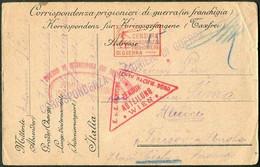 WW1 POW Mail 1916 Italy Italia Censored Stationery Card Czech Prigioniero Di Guerra KGF WWI > Austria Bohemia Österreich - Portofreiheit