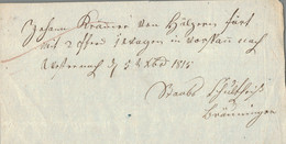 1815 Westernach, Transport-Quittung 2 Offene Wagen - ... - 1799