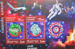 Tajikistan  2011 IMPERFORATED  Lunar Calendar, Year Of The Rabbit   Space    S/S   MNH - Chinese New Year