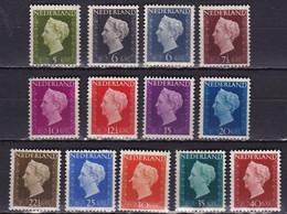 1947-48 Koningin Wilhelmina Complete Postfrisse Series NVPH 474 / 486 - Nuovi