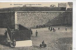 93, Seine Saint-Denis, SAINT-OUEN,Les Fortifications De Paris,animations,, Scan Recto-Verso - Saint Ouen