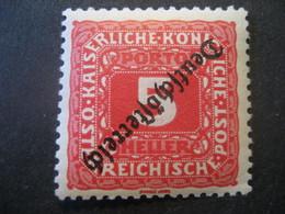 Österreich- Deutsch-Österreich 5 Heller Portomarke** ANK 64 K, Mi.Nr. 64 K** - Ungebraucht