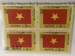 North Vietnam VIETNAM(ERROR Double Perf-NATIONAL FLAG-1block PCS STAMPS - Vietnam