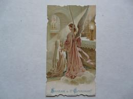 VIEUX PAPIERS - IMAGE PIEUSE : Souvenir De Première Communion De Suzanne Corbeau 1922 - Devotieprenten