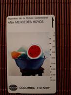 Phonecad Colombia Ana Mercedes Hoyos Used Rare - Kolumbien