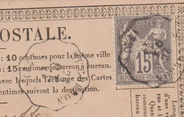 N°66 N/B Convoyeur Station St Chéron PT (72) / CP Précurseur Repiqué Cachet à Sec R.Perceron - 1877-1920: Semi-moderne Periode