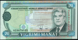♛ TURKMENISTAN - 20 Manat 1995 UNC P.4 B - Turkmenistan