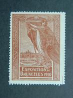 Vignette Exposition Bruxelles Belgique Tentoonstelling Belgie Brussels 1910 - Erinofilia