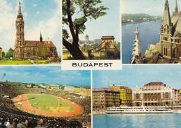 STADIO-STADE-STADIUM ESTADIO-CAMPO SPORTIVO SOCCER-FOOTBALL-BUDAPEST-UNGHERIA-CARTOLINA - VIAGGIATA IL 12-8-1970 - Voetbal