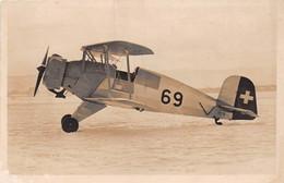 ¤¤   -  AVIATION  -  Carte-Photo D'un Avion Bi-Plan SUISSE  -  Bücker Jungmeister   -   ¤¤ - 1919-1938: Between Wars