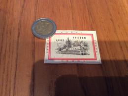Ancienne étiquette * Boîte D'allumettes Belgique «YPRES YPEREN - NOPRI SARMA» (monuments) - Matchboxes
