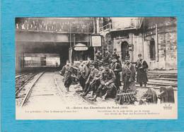 Grève Des Cheminots Du Nord, (1910 . Surveillance De La Voie Ferrée Par La Troupe Aux Abords Du Pont Des Bd. Extérieurs. - Strikes