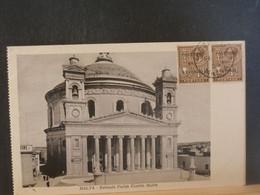 91/647 CP   MALTA  VERSO BLANCO  1929 - Malta