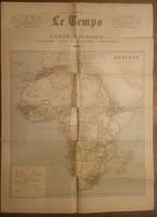 Grande Carte De L'AFRIQUE  Décembre 1890 (journal LE TEMPS) (M0989) - Cartes Géographiques