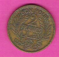 TUNISIE Française Bon Pour 2 Francs 1926 - Tunisie