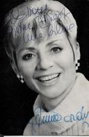 ANNIE CORDY : Dédicace De Annie Cordy Le 20 Mai 1966 - Autografi