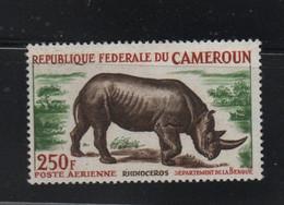 LOT 198 - CAMEROUN  P.A N° 55  A**   ANIMAUX RHINOCEROS - Cote 12 € - Kamerun (1960-...)