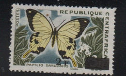 LOT 198 - CENTRAFRIQUE N° 61**   ANIMAUX PAPILLON - Centrafricaine (République)