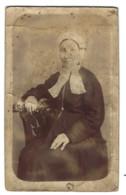 PHOTO ANCIENNE - Femme Avec Coiffe - Non Située - Antiche (ante 1900)