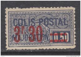 France Colis Postaux N° 46 (.)  3 F. 30 Sur 50 C. Violet Foncé,  Neuf Sans Gomme Sinon TB - Neufs