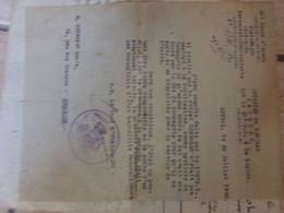 Lot  Document 1920 General Jacquot Vole De Vélo A La Caserne 7 Pages Epinal - Militaria