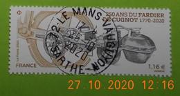 FRANCE 2020    250 ANS DU FARDIER DE CUGNOT    Cachet   ROND - Francia