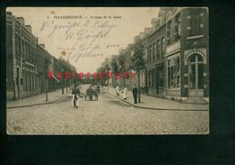 AK Hazebrouck, Avenue De La Gare, Feldpost 1915 Nach Rottmannsdorf / Zwickau - Hazebrouck