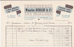 LA FERTE BERNARD IMPRIMERIE LE REVEIL L AUBE MAURICE BOULAY TYPOGRAPHIE AFFICHES GRAVURES LITHOGRAPHIES ANNEE 1954 - Francia