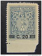 """ITALIA Vaticano -1945-46- """"Medaglioncini"""" C. 20 Su 5 MH* Varietà (descrizione) - Errors & Oddities"""