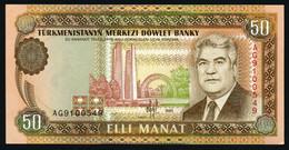 ♛ TURKMENISTAN - 50 Manat 1995 UNC P.5 B - Turkmenistan