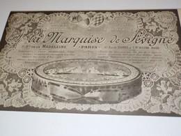 ANCIENNE PUBLICITE LA MARQUISE DE SEVIGNE 1917 - Posters