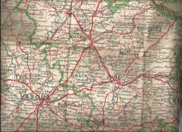 Carte Géographique Départementales HAUTE SAONE - TERRITre De BELFORT  Au 1:200000e - Cartes Géographiques