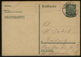 S1756 DR GS Karte, Gebraucht Mit Landpost Stempel Albrechtshain über Leipzig - Rudnitz 1934,Bedarfserhaltung. - Covers & Documents
