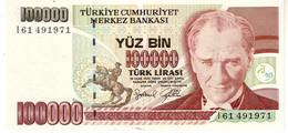 Turkey P.206  100000 Lirasi 1996 Unc - Turquie