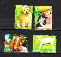 Francia  -  2006.  Cuccioli Di : Puledro, Agnello, Gatto, Cane. Puppies Of: Foal, Lamb, Cat, Dog. MNH Complete Series - Hunde