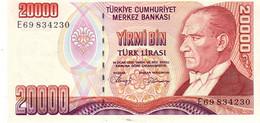 Turkey P.201 20000 Lirasi 1988 Unc - Turquie