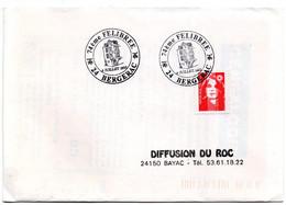 DORDOGNE - Dépt N° 24 = BERGERAC 1993 =  CACHET Illustré = FELIBREE - Matasellos Conmemorativos