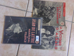 3 Mini Revue Collection Patrie  Jean De Lattre Alsace  Flying - Libros, Revistas & Catálogos