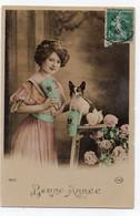 DC4674 - Ak Dame Mit Hund / Dog - Bonne Année - Frauen