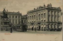 Bruxelles // Place Royale - Hotel De L' Europe (Belle Tram) 190? - Cafés, Hôtels, Restaurants