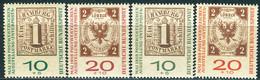 BRD - Mi 310 / 311 A+b - ** Postfrisch (A) - 10+5-20+10Pf               INTERPOSTA - Unused Stamps