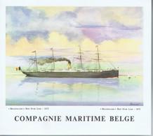 Menu Compagnie Maritime Belge Leopoldville 13 Janvier 62 - Menu