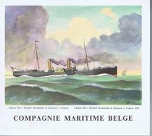 Menu Compagnie Maritime Belge Leopoldville 22  Janvier 62 - Menu