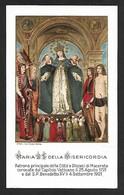 Santino/holycard: MARIA SS. DELLA MISERICORDIA - Macerata - E - PR - Mm. 69 X 113 - Religion & Esotericism