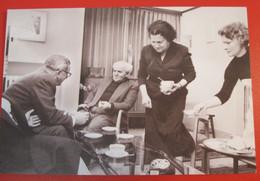 VINTAGE DAVID BEN GURION PRIME MINISTER POSTCARD ISRAEL PC ANSICHTKARTE SOUVENIR POST CARD PHOTO STAMP CACHET - Israel