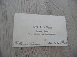 CDV Carte De Visite Le R.P.  De Villèle Supérieur Général De La Mission De Madagascar - Cartes De Visite