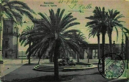 Italy Palermo Piazza S Spirito Fountain Square Postcard - Andere