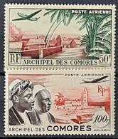 COMORES 1950/53 - MLH - YT 1, 2 - Air Mail 50F 100F - Ongebruikt