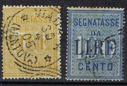DO 15832 ITALIE TAXE GESTEMPELD YVERT 25/26  ZIE SCAN - Segnatasse