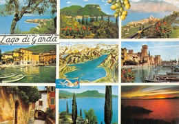 Italy Lago Di Garda Multiviews Harbour Boats Port Bateaux Panorama - Other